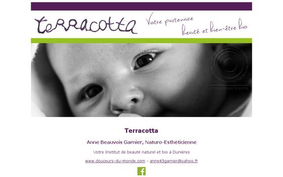 Terracotta • Anne Beauvois, votre institut de beauté bio et naturel à Dunières • Haute-Loire Auvergne