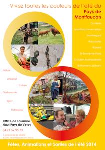 Brochure Office de Tourisme du Pays de Montfaucon par le graphiste Fabrice Beauvois • Studio Sourisdom