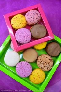 Les macarons de la Patisserie Chocolaterie Pépin à Lyon